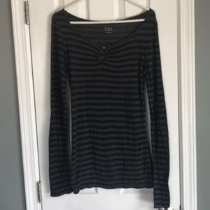 Express Sexy Basic Long Sleeve striped top, Large